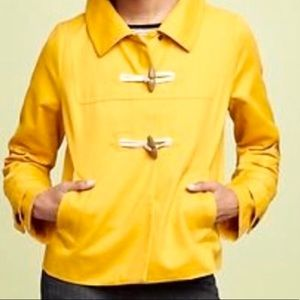 GAP Yellow Toggle Jacket